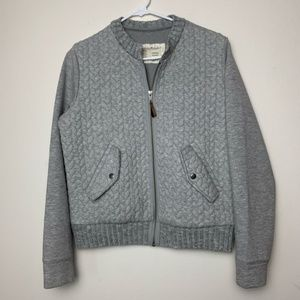 Anthro Saturday Sunday Quilted Sweater Bomber